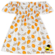 Summer Children Off Shoulder Lemon Pattern Printed Kids Frock Designs Pictures Dress