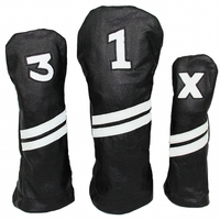New Design Golf Wood Head covers Customized usa blank golf Headcovers PU Leather club covers pu adult golf headcover