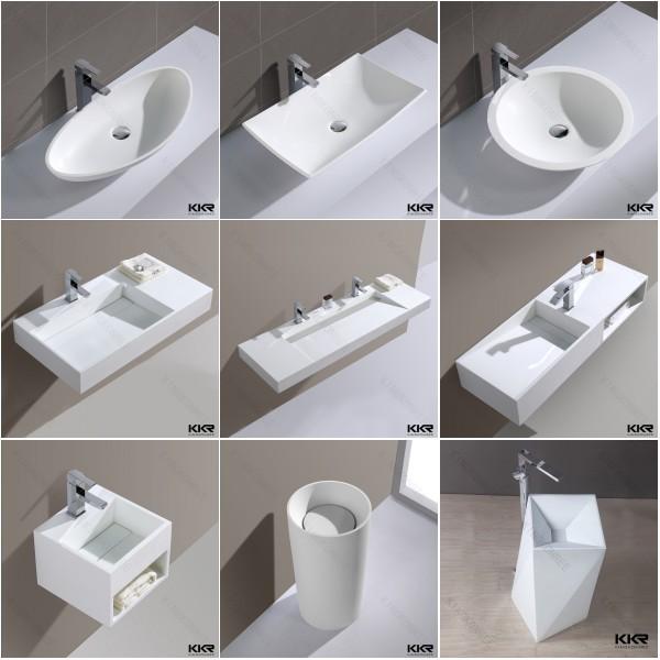 Mini Wc kingkonree yellow solid surface wc basin toilet wash basins