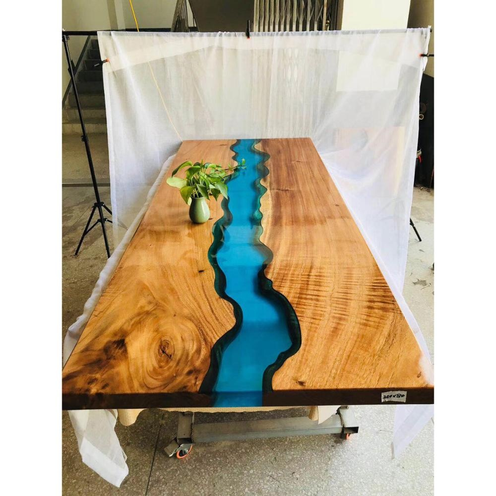 detailed look 8d786 87a87 Luxury Dining Table Solid Wood Resin Table Top - Buy River Table Dining  Table Dining Table Set,Epoxy Resin Table Dining Table Solid Wood,Rectangle  ...
