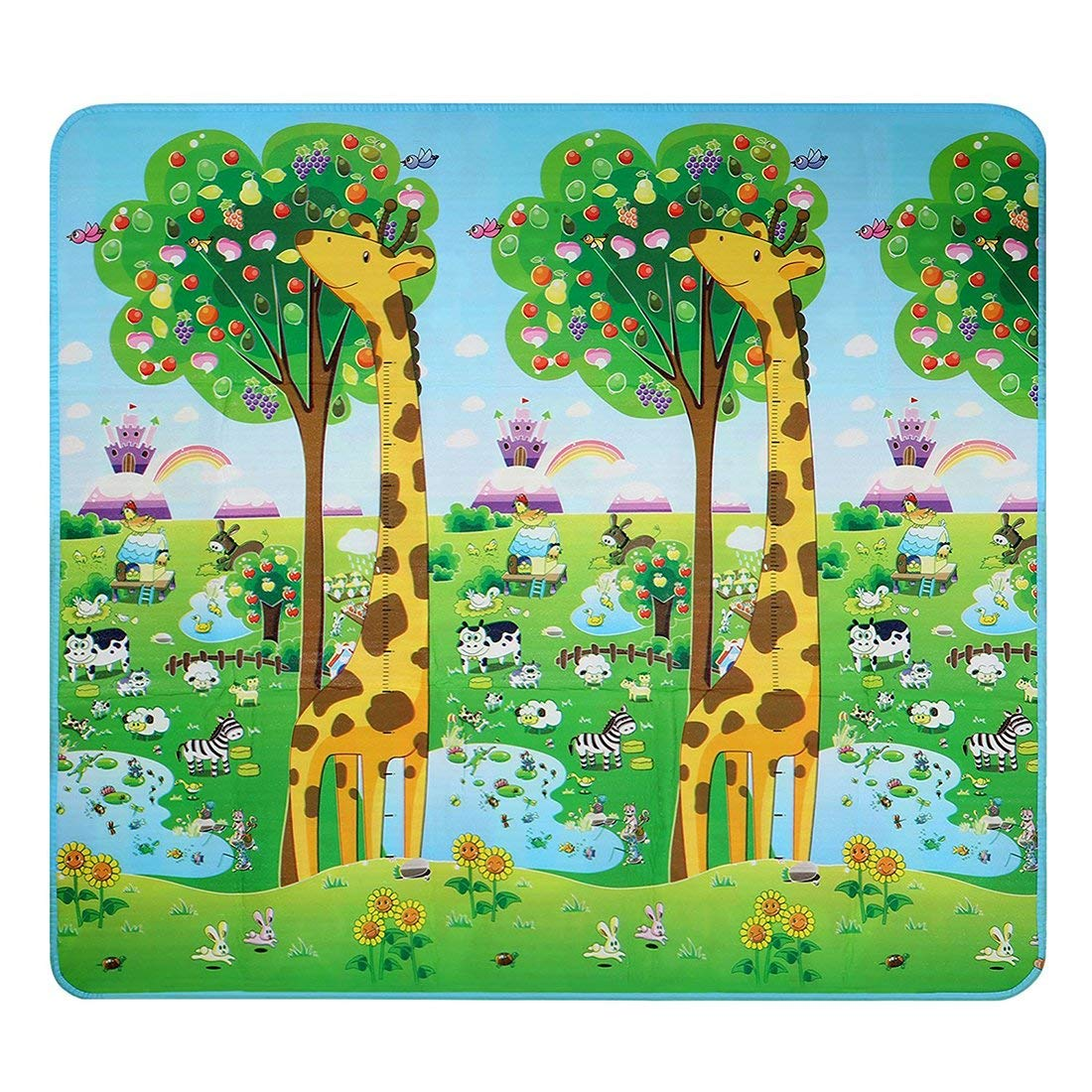 SODIAL(R) Baby Kid Toddler Play Crawl Mat Carpet Foam Blanket Rug for In/Out Doors
