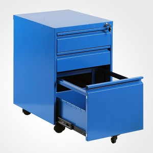 Metal Office Mobile Pedestal steel 3 Drawers movable metal workstation filling cabinet