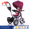 Ride on car kids toy tricycle / custom children trike with parent handlebar / 4 in 1 Smart babies tricycle for sale
