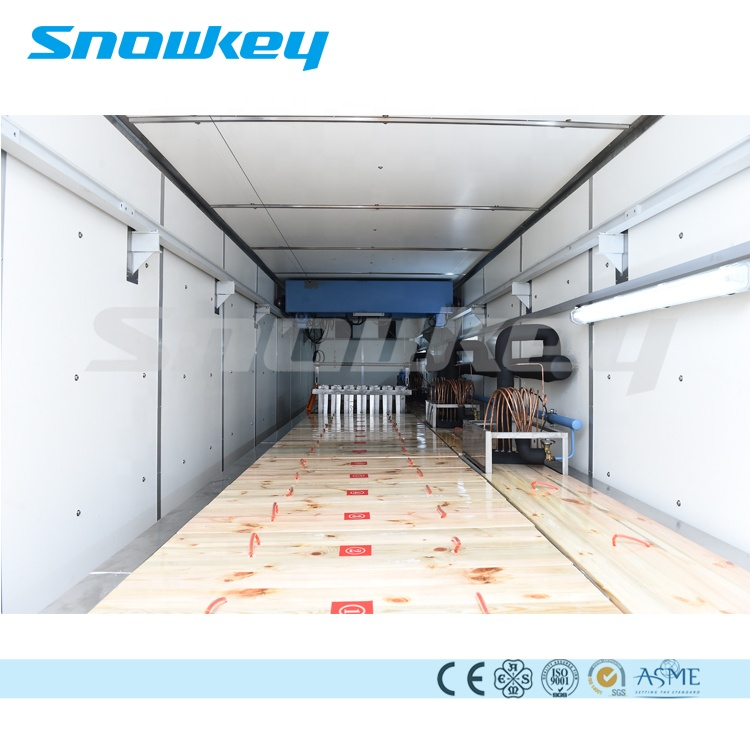 Snowkey Containerized บล็อกน้ำแข็งเครื่อง 30 ตันสำหรับ Ice Plant