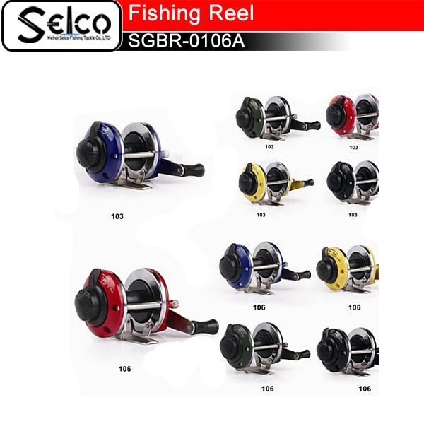 Weihai factory wholesale High quality cheap ice fishing reel, plastic spool