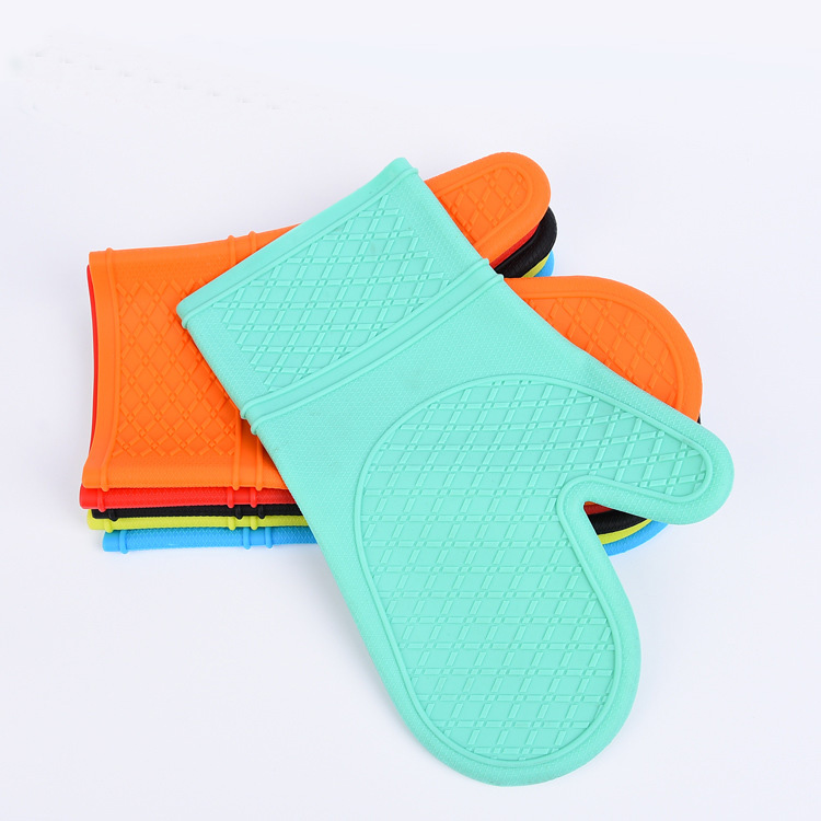 New design wholesale double silicone rubber oven mitts