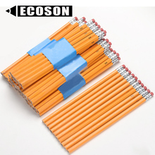 Wholesale Cheap Pre Sharpened Yellow Pencil Set of 12 EN71 Custom Hexagon Cheap Yellow HB Wooden Pencil with Eraser Top