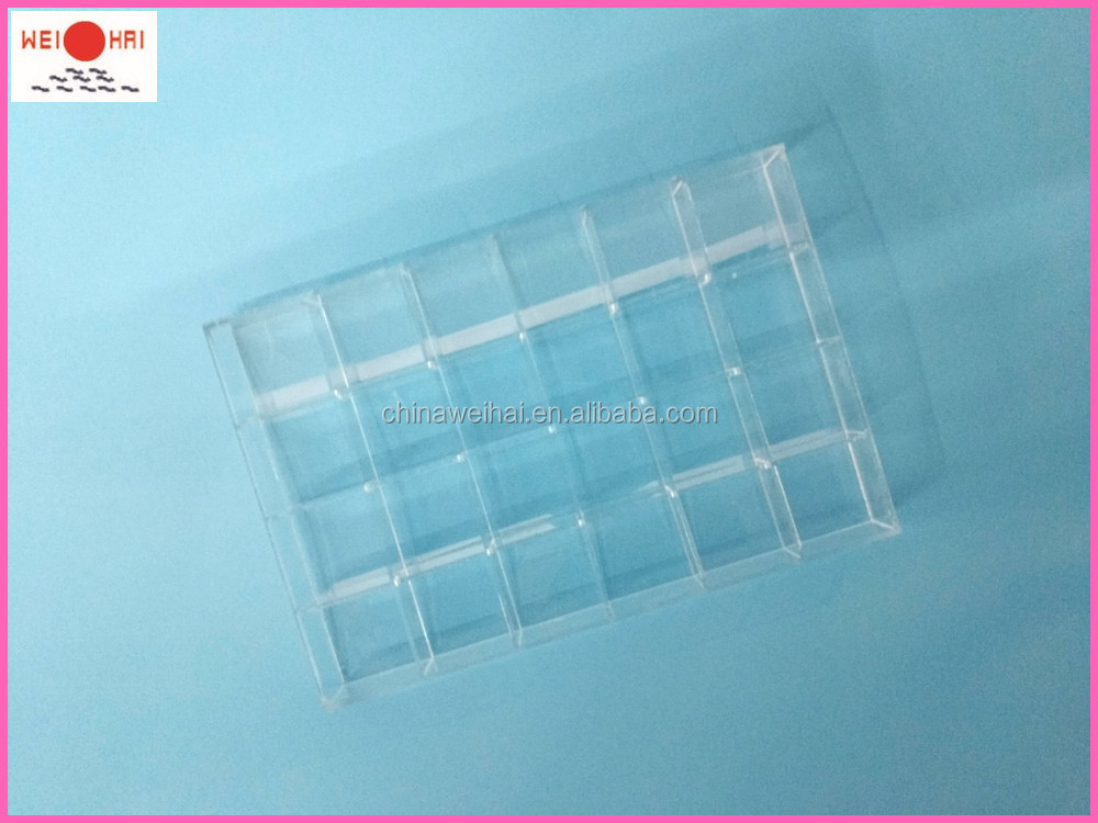 Plexiglass Plastic Tray With Dividers