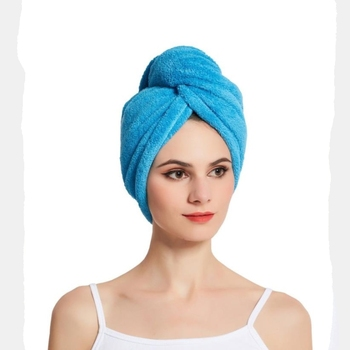 Amazon hot less frizzy lightweight super absorbent fast dry women microfiber head towel wrap turban for hair salon