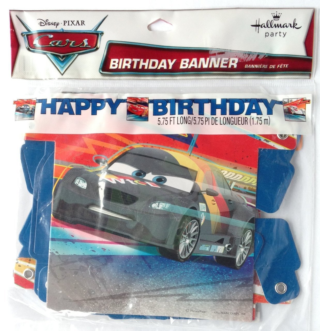 "Disney & Pixar CARS ""HAPPY BIRTHDAY"" Birthday Party Banner (5.75 Feet Long)"