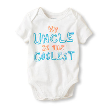 359ac87a14514 Baby Girl's My Uncle is the coolest Bodysuit,baby clothes,Baby clothing