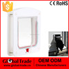 White Frame 4 Way Locking Lockable Magnetic Pet Cat Small Dog Flap Door H0059