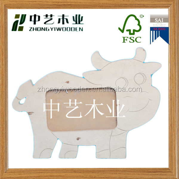 China Factory Suppliers Fsc Animal Shape Fancy Kids Wooden Photo ...
