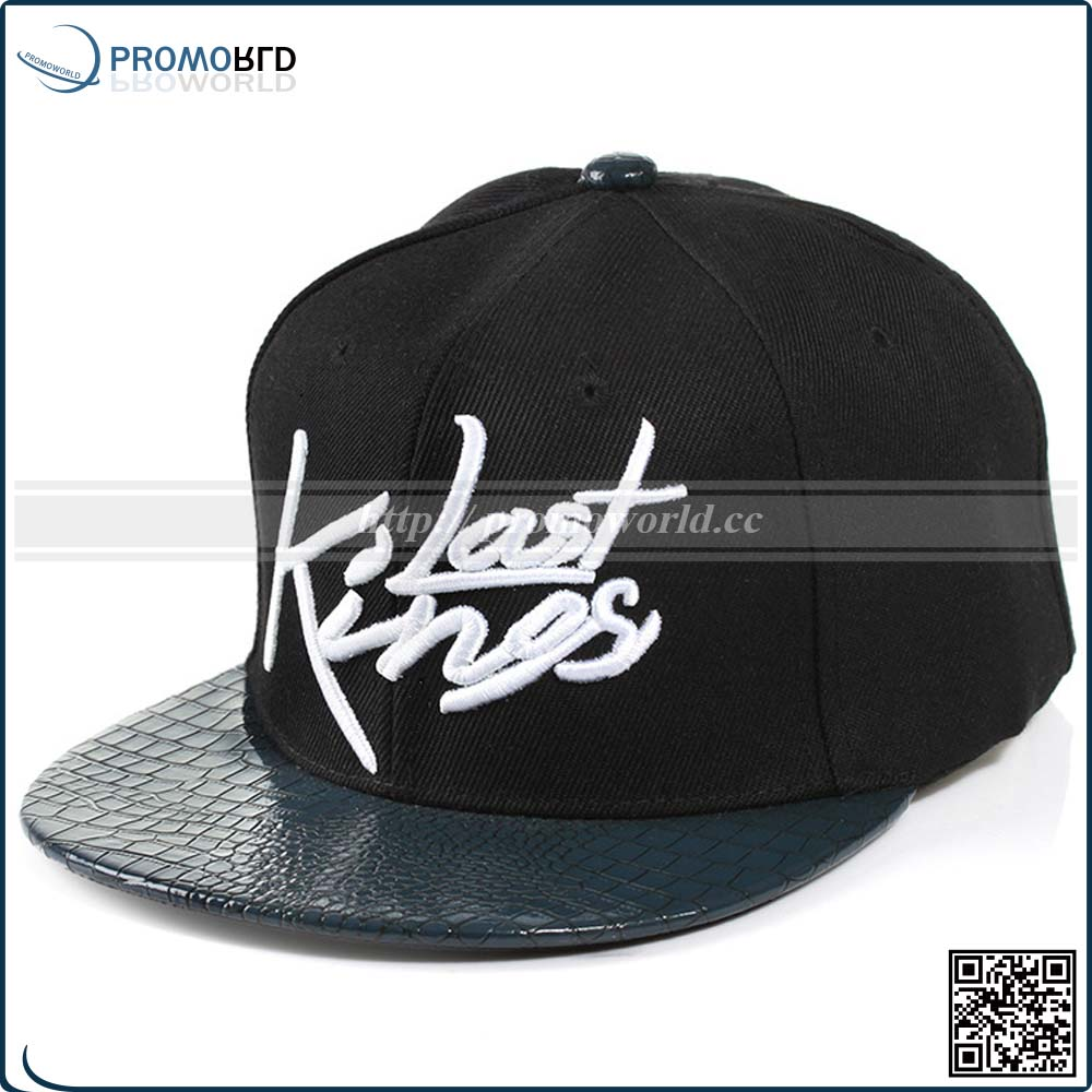 6 Panel Fashion Last King Hip-hop Leather Emergency Cotton Baseball Cap