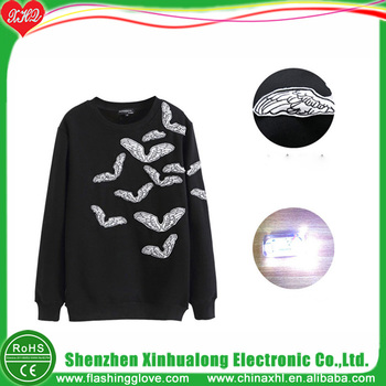 Hot Selling Touch Activate Led Glow Hoodie Factory Led Hoodie Buy