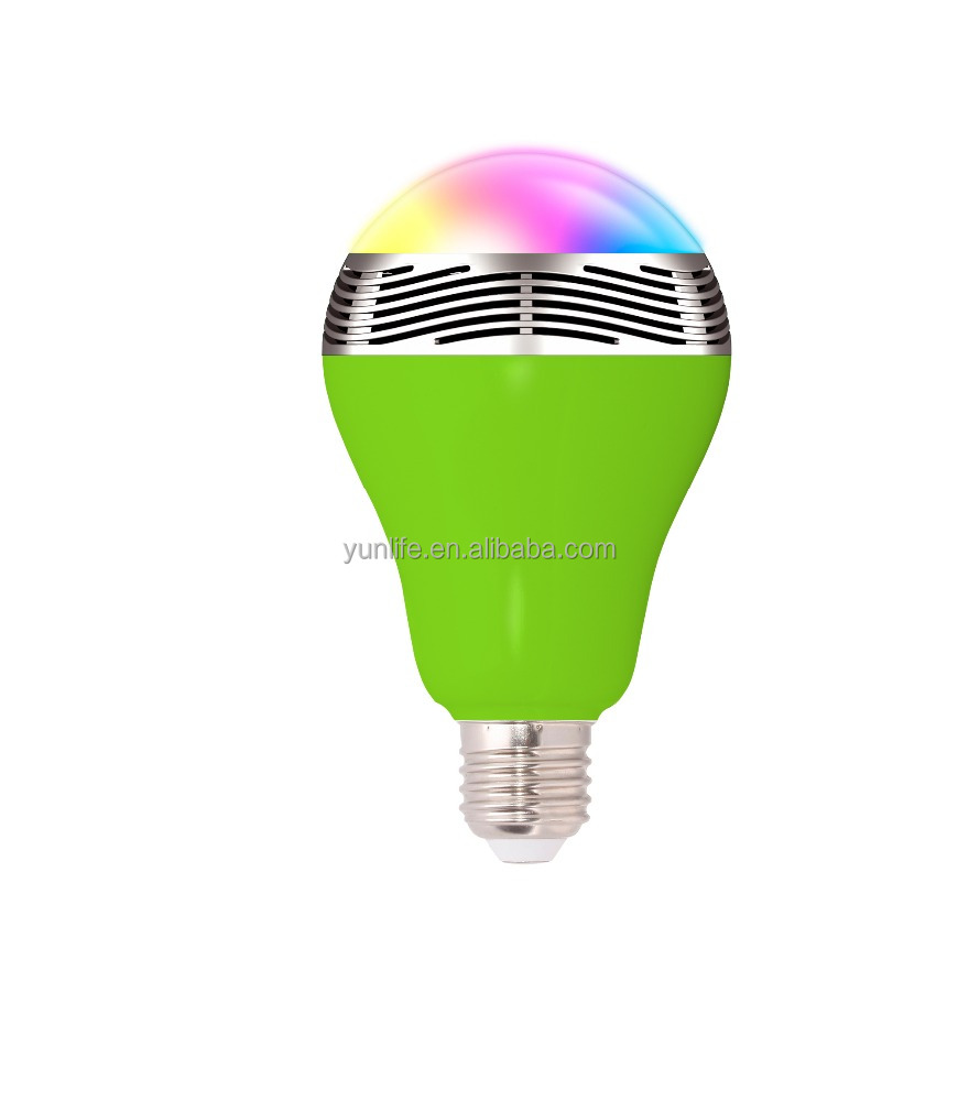 Smart led bulbwith music player and light changing led light bulb parts