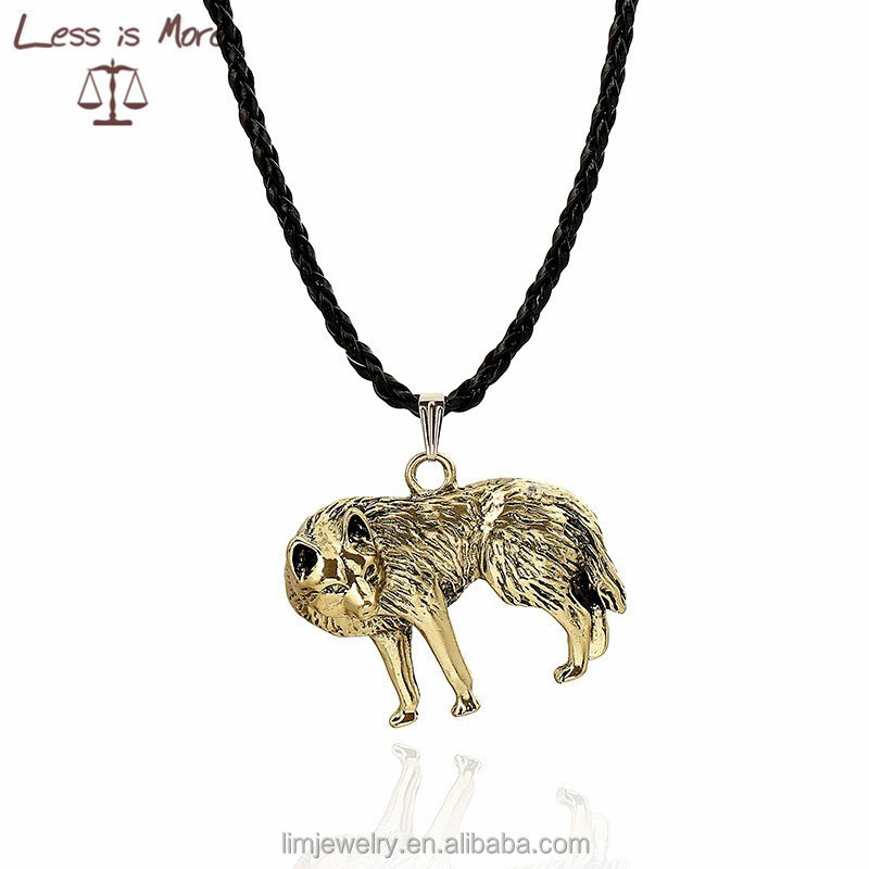 2015 wolf pendant for man fashion animal necklace