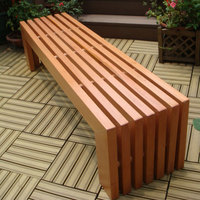 Very cheap price lounge chair garden flower benches long solid wooden garden bench