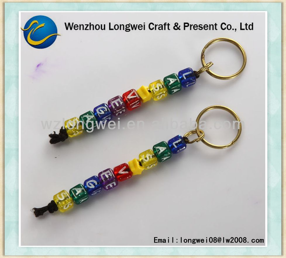 letter alphabet acrylic keychain/keychain with letters