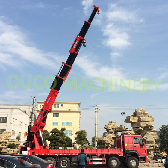 OUCO 150t Great Heavy Duty Service Semi-knuckle Telescopic Boom Truck Mounted Crane/lorry crane for sale