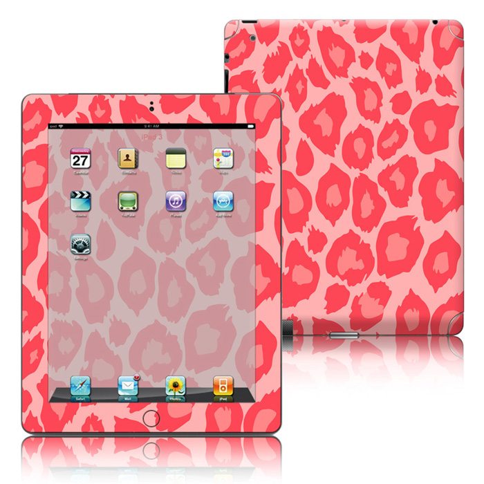 Factory Leopard Print Removable Skin Tablet Decorative Decals Sticker For iPad 234 Universal wrap cover