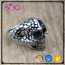 Factory outlet fashion american stainless steel gothic punk charm skeleton jewelry wholesale skull rings