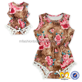 d57c1144a Summer Pom Pom Baby Girls Bubble Romper Children Boutique Vintage  One-pieces Jumpsuits - Buy Baby Girl Romper