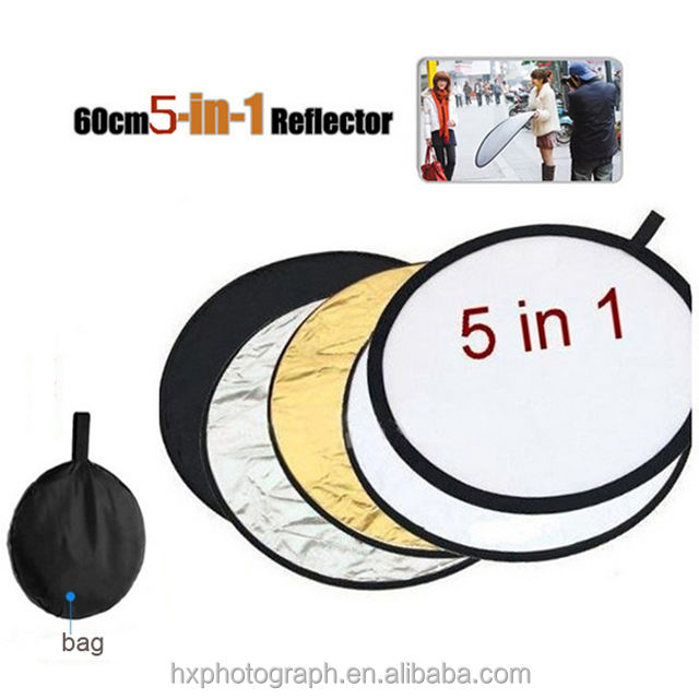 5 in 1 Portable Round Collapsible Multi Disc Photography Studio Photo Camera Reflector