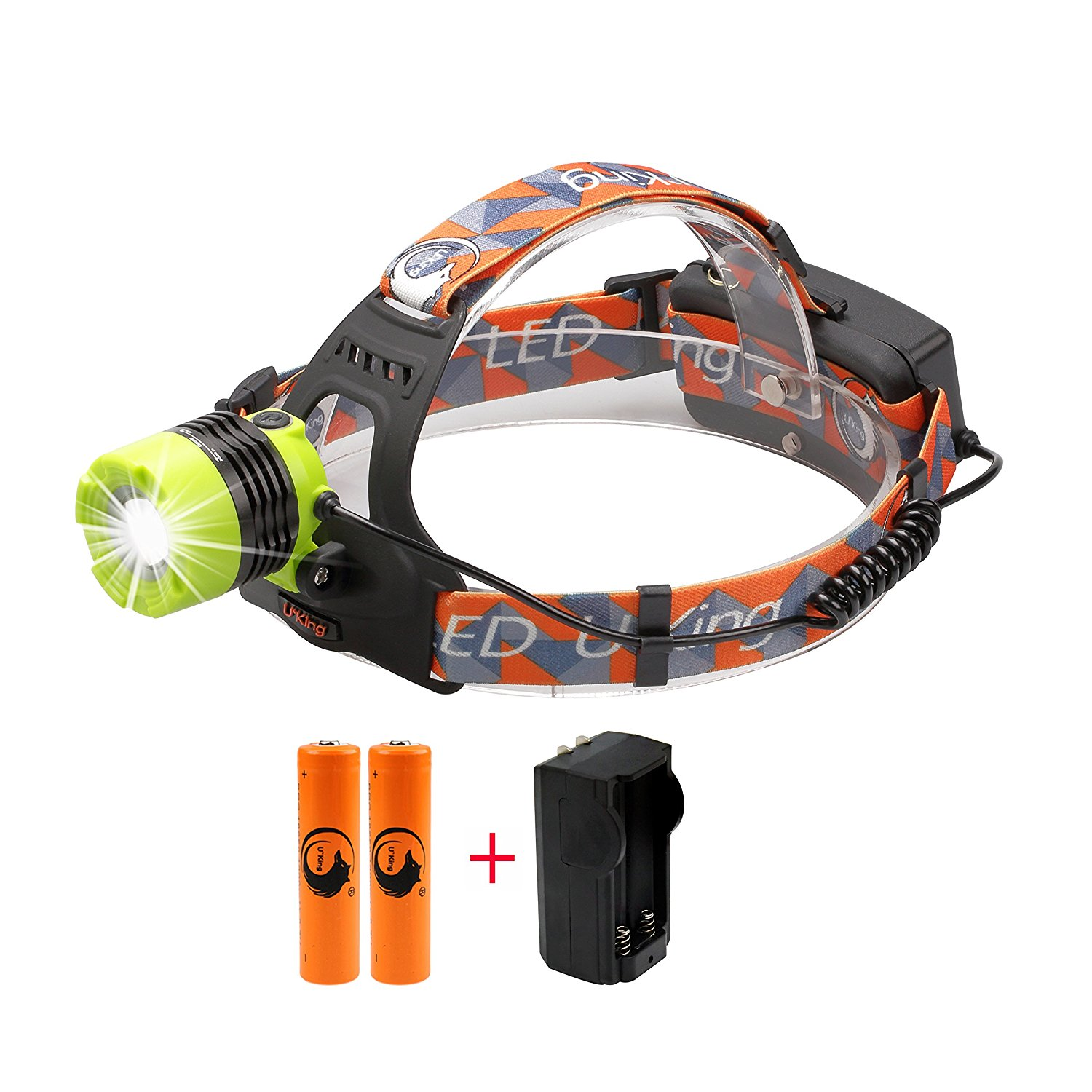 ❗Best LED Headlamp 5000 Lumen flashlight - IMPROVED LED, Rechargeable 18650 headlight flashlights, Waterproof Hard Hat Light, Bright Head Lights, Running or Camping headlamps