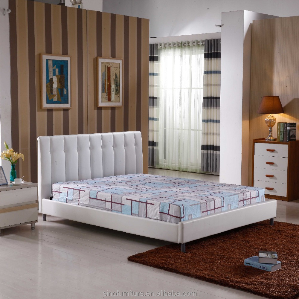Plataforma de madera de teca de estilo coreano barato blanco cama de ...