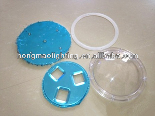 round 156 mm hole distance 200w led high bay poly carbonate lens