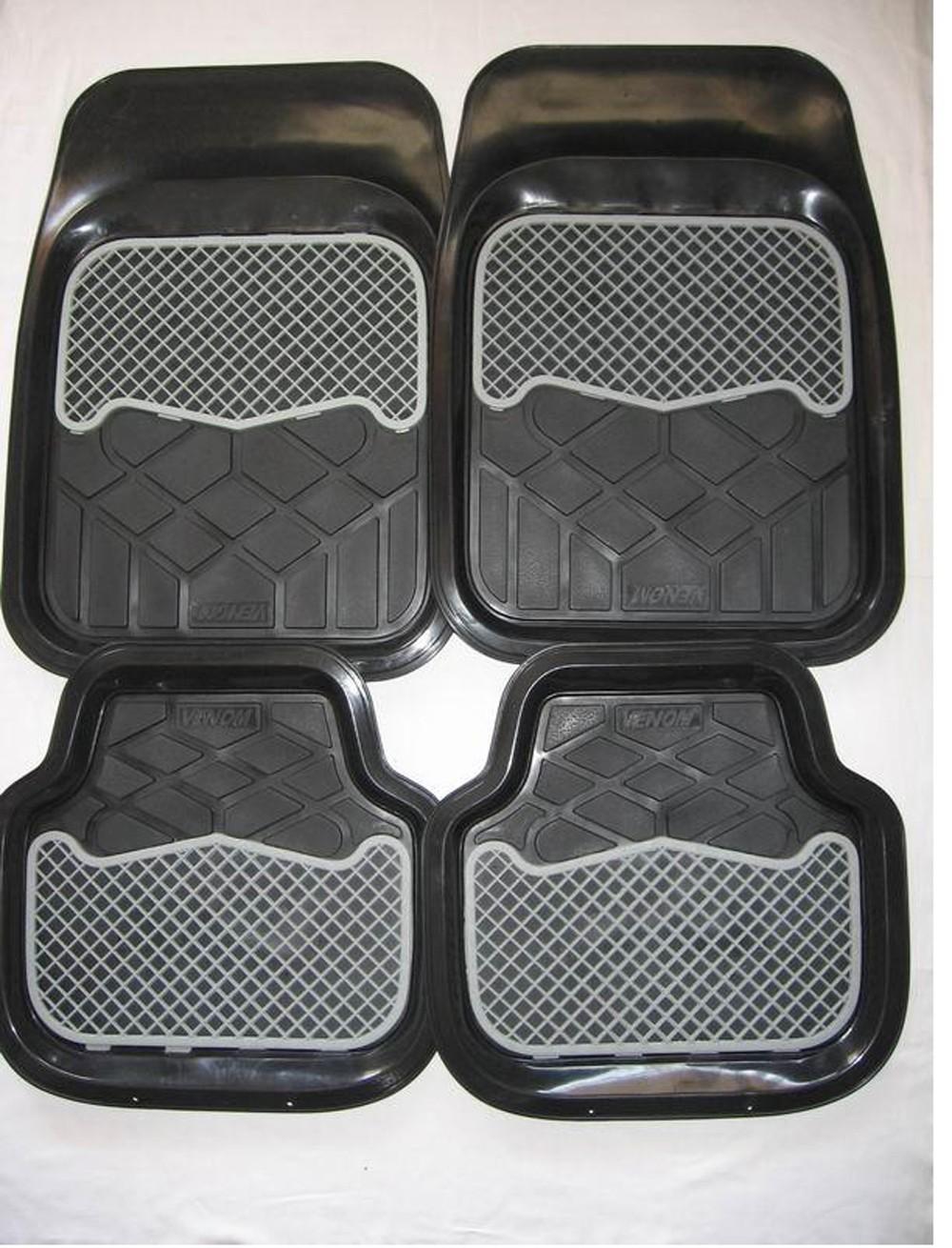 Black Non Slip Decorative 4pcs Car Floor Rubber Mats Buy