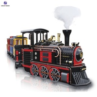 Tourist attraction family amusement rides electric leisure mini trackless train for sale