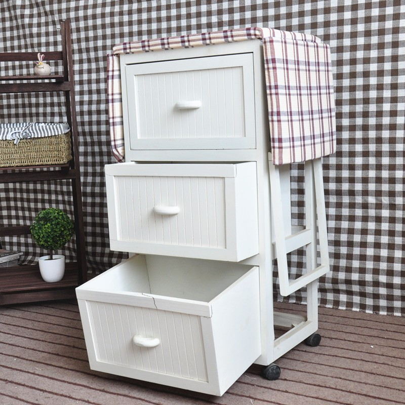 Multi Drawers Wooden Ironing Board With Cabinet Ironing