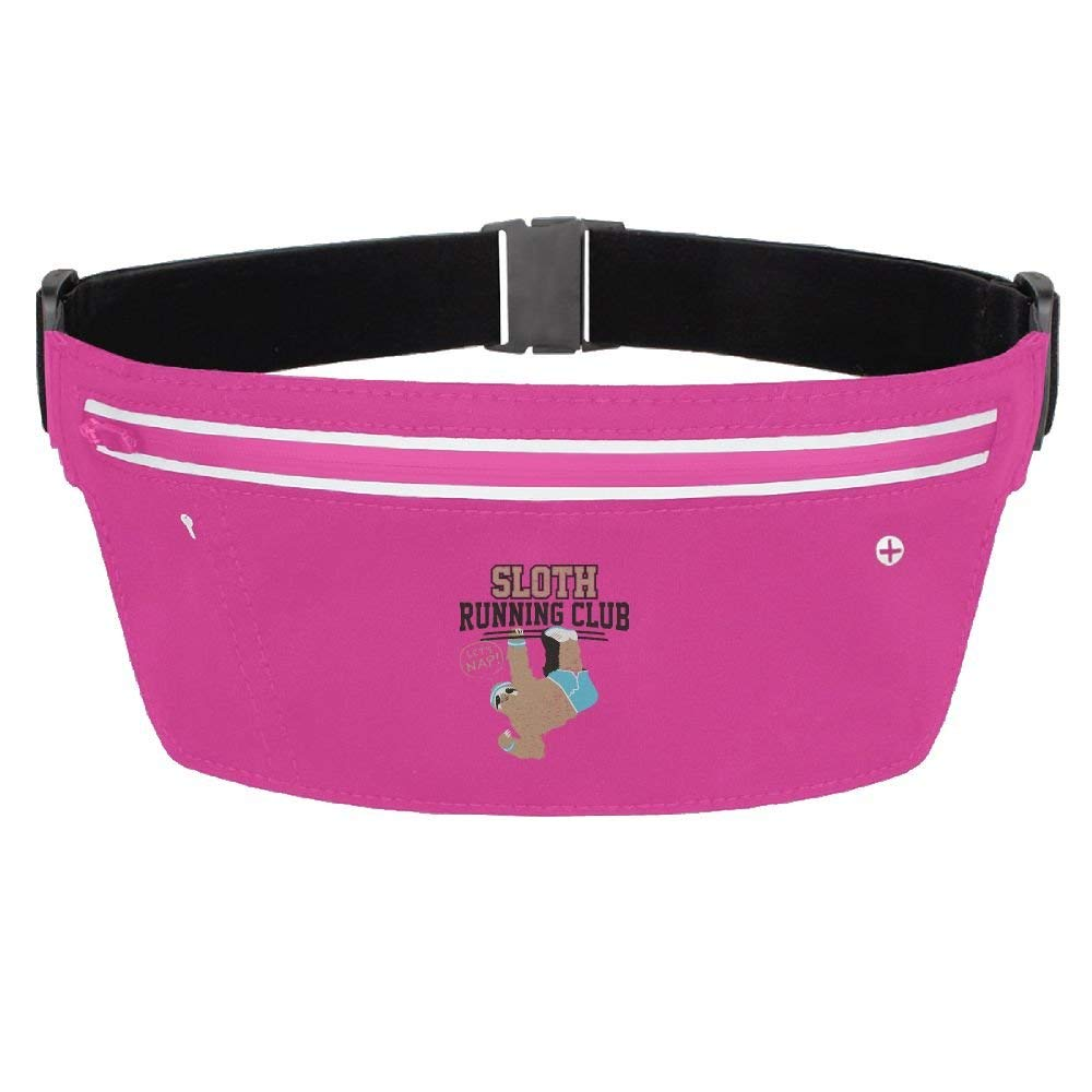 cbca57437 Get Quotations · Waist Bags Fanny Pack Sloth Running Club Running  Waterproof Ultrathin Hide Purse Adjustable Belt Outdoor