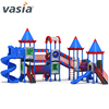 kids outdoor swing and plastic slide playground equipment for kids