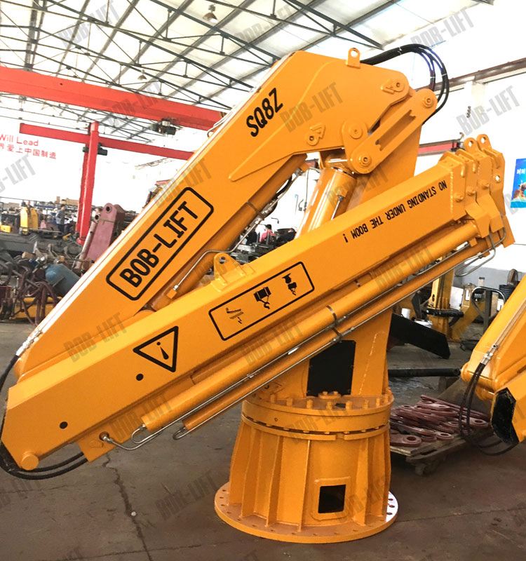 8 Ton 10 Ton Hydraulic Knuckle Telescopic Boom Ship Marine Crane