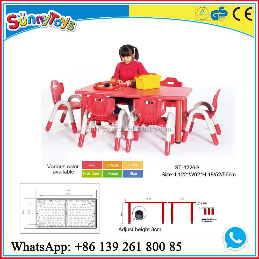 Plastic Height Adjustable Kids Table Legs/kids Plastic Table