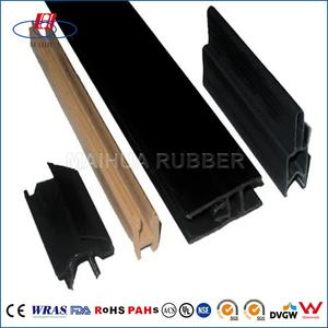 OEM ODM Custom epdm/silicone extruded h shape epdm rubber seal strip