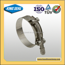 heavy duty T bolt hose clamp for mechanical equipment machine parts/tools