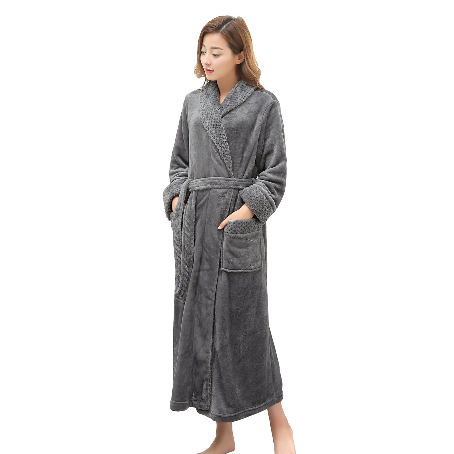 6ce969b42f U-Faves Women s Solid Color Satin Kimono Short Robe Housecoat Wedding Party  Robe. 14.99. null. Get Quotations · LOFIR Long Robe For Womens Plush Fleece  ...