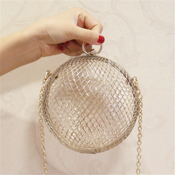 Popular trendy latest styles clear ball clutch designer lady casual clutch bag lady evening clutch bag