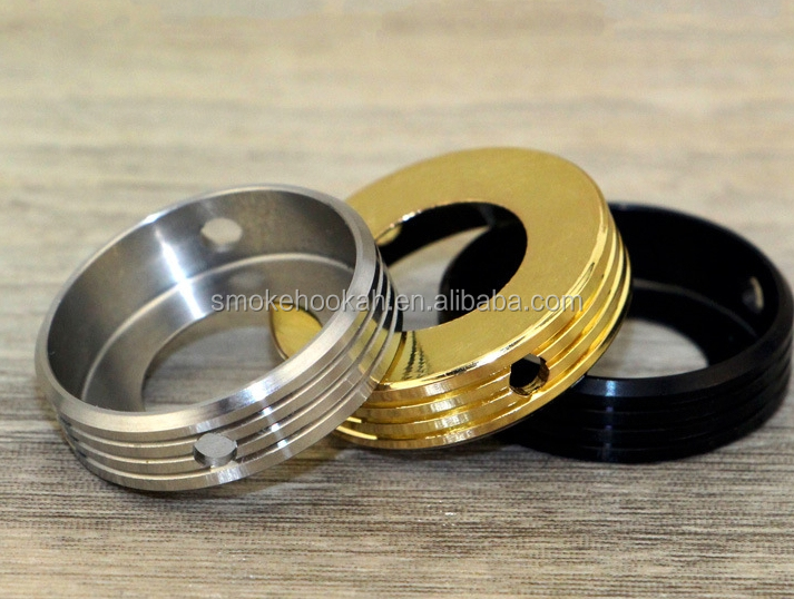 Cheap Price SS/Black/Gold 22MM RDA Cooling ring , new heatsink For Atomizer/RDA Decorative ring