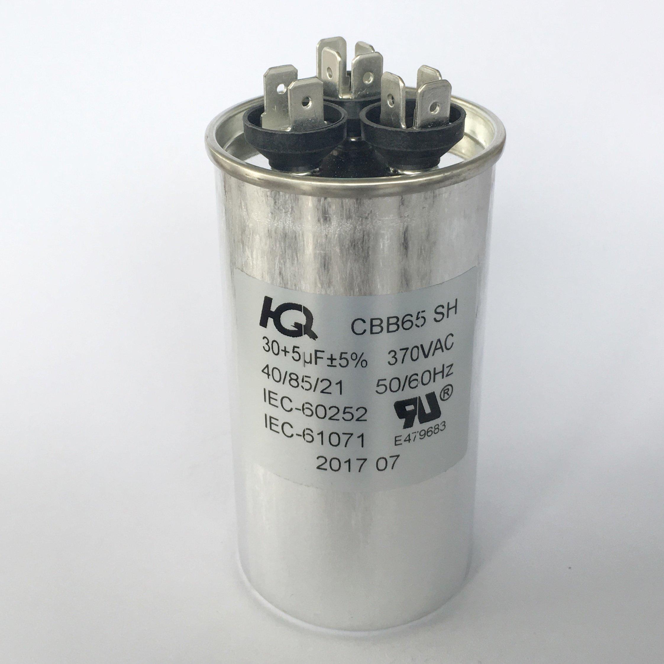 Buy 97F9833 - 30 + 5 uf MFD 370 Volt VAC - Genteq Round Dual Run