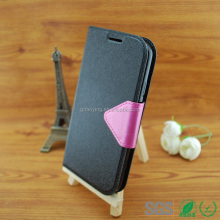 beautiful mobile phone back cover leather flip phone case for Sumsung galaxy S4 /I9500