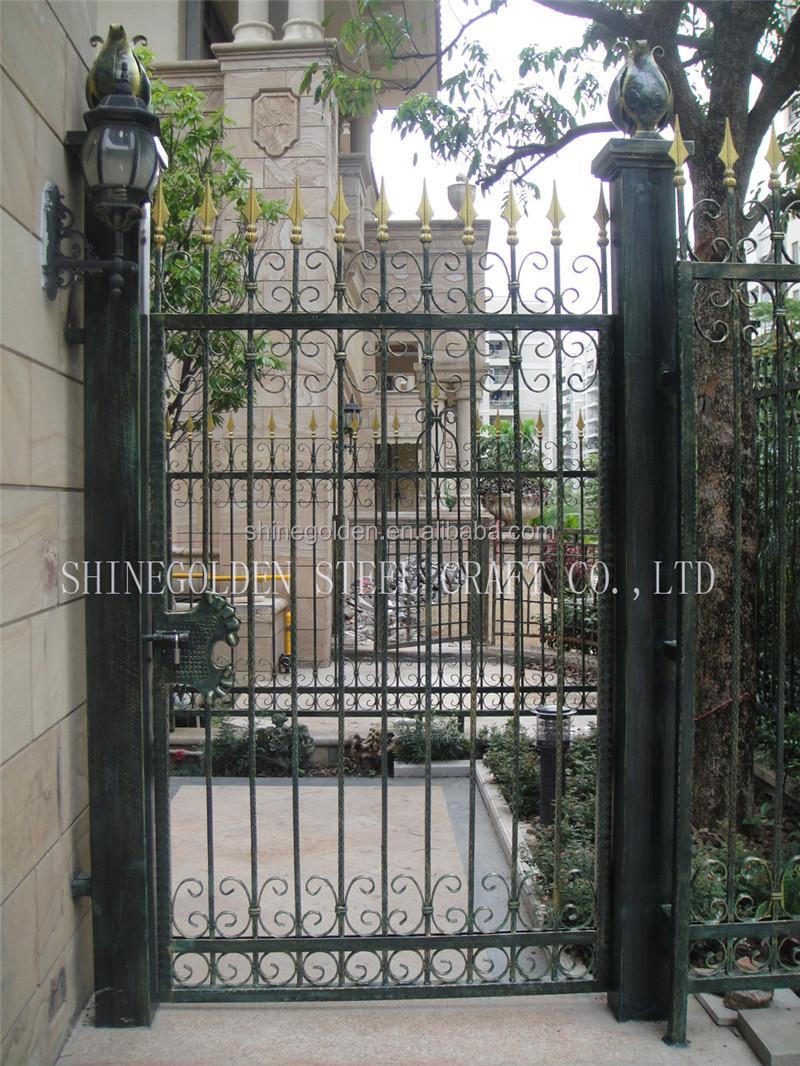 Alta calidad puerta de hierro forjado puerta para for Puertas de hierro forjado para exteriores