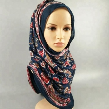 China Factory Big Long Jersey Hijabs Head Scarfs For Muslim Woman