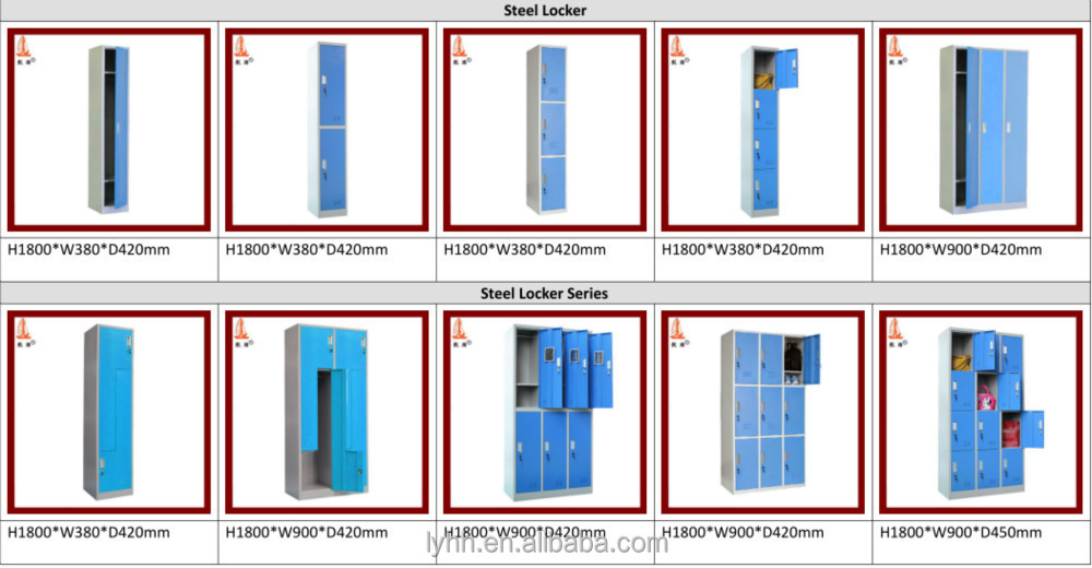 best selling school furniture double door employee locker furniture dubai locker with small mirror - Employee Lockers