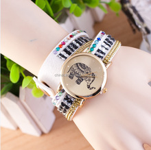 The Most Popular Manufacturing New Items Fashion Latest Popular Elephant image Long Leather Sling Chain Quartz Watches Women