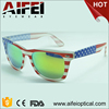 2017 hot sale plastic american flag sunglasses with yellow revo lens